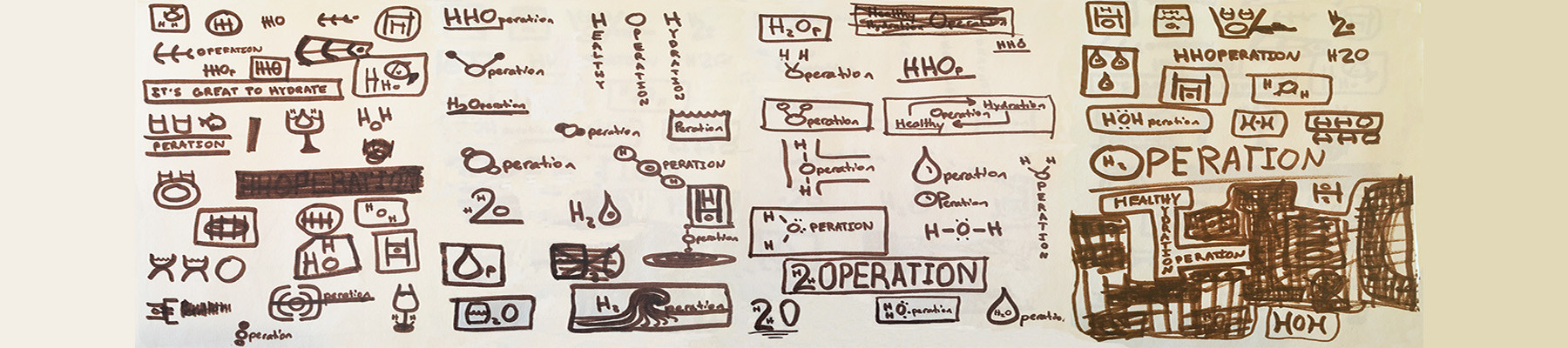 logo doodles for h2operation